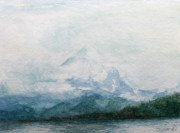 Baker Island Paintings - Mount Baker by Aurora Jenson