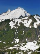 Mount Baker Posters - Mount Baker in the Washington Cascade Mountain Range Poster by Brendan Reals
