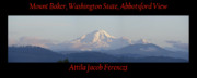 Mount Rose Framed Prints - Mount Baker Panorama Framed Print by Attila Jacob Ferenczi