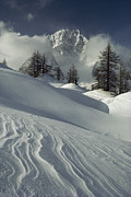 Snow Scenes Art - Mount Blanc Partially Obscured by Gordon Wiltsie