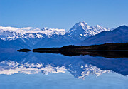 Mount Cook With Reflection Print by Sheila Smart