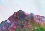 Cerro Paintings - Mount Cristo Rey by Melinda Etzold