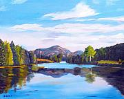 Pond In Park Originals - Mount Desert Island Scene by Jack Riddle