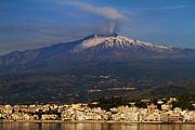 Sicily Metal Prints - Mount Etna Metal Print by David Smith