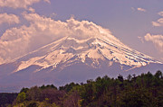 Purple Clouds Prints - Mount Fuji Print by David Rucker