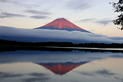 Sunset Reflection Prints - Mount Fuji Print by Japan from my eyes