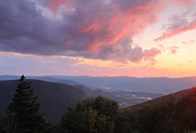 Berkshires Prints - Mount Greylock Sunset Print by John Burk
