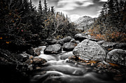 Fall Photographs Posters - Mount Katahdin Poster by Chad Tracy