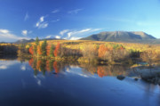 Mount Katahdin Posters - Mount Katahdin from Abol Bridge Poster by John Burk