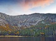 Orange Metal Prints - Mount Katahdin from Chimney Pond in Baxter State Park Maine Metal Print by Brendan Reals