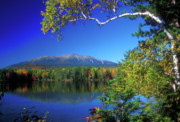 Baxter Posters - Mount Katahdin from Touge Pond Poster by John Burk