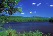 Mount Katahdin Prints - Mount Katahdin Horserace Brook Penobscot River Print by John Burk