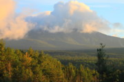 Mount Katahdin Posters - Mount Katahdin Morning Poster by John Burk