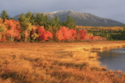Mount Katahdin Posters - Mount Katahdin October Morning Poster by John Burk