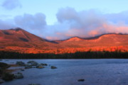 Mount Katahdin Prints - Mount Katahdin Sunrise Print by John Burk