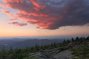 New Hampshire Lakes Framed Prints - Mount Kearsarge Sunset Framed Print by John Burk