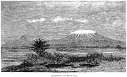1884 Art - Mount Kilimanjaro, 1884 by Granger
