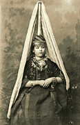 Headdresses Photos - Mount Lebanon Druse Bride 1910 by Padre Art