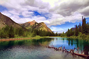 Ponds Digital Art - Mount Lorette Ponds at Kananaskis by Teresa Zieba