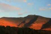 Mansfield Prints - Mount Mansfield Evening Glow Print by John Burk