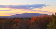 Autumn Foliage Prints - Mount Monadnock Autumn Sunset Print by John Burk