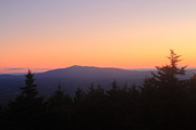 Monadnock Region Posters - Mount Monadnock from Pack Monadnock at Dusk Poster by John Burk