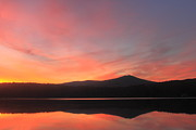 Monadnock Region Posters - Mount Monadnock Sunrise from Stone Pond Poster by John Burk