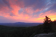 Monadnock Region Framed Prints - Mount Monadnock Sunset from North Pack Monadnock Framed Print by John Burk