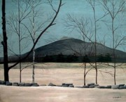 Stonewall Painting Metal Prints - Mount Monadnock Metal Print by Timothy Campbell