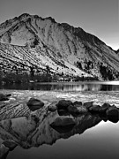 Laurel Posters - Mount Morrison and Convict Lake Monochrome Poster by Scott McGuire
