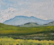 Field. Cloud Paintings - Mount Orford Over a Yellow Field Quebec Canada by Francois Fournier
