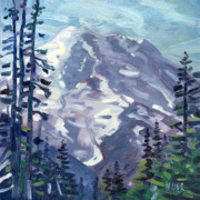 Summit Painting Posters - Mount Rainier from Sunrise Point Poster by Donald Maier
