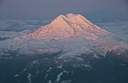 Sunlight Metal Prints - Mount Rainier, Wa Metal Print by Professional geographer who loves to capture landscapes