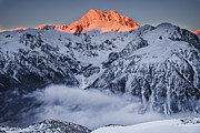 Snow-covered Landscape Prints - Mount Rolleston In The Dawn Light Print by Colin Monteath