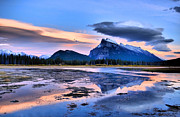 Rundle Prints - Mount Rundle in the Evening Print by Tara Turner