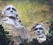 Patriots Digital Art Posters - Mount Rushmore - My Impression Poster by Jeff Burgess