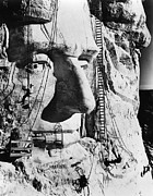Portrait Sculpture Photograph Prints - Mount Rushmore, 1936 Print by Granger