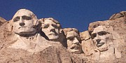 Abraham Lincoln Color Digital Art - Mount Rushmore American Presidents by Peter Art Print Gallery  - Paintings Photos Posters