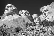 Mount Rushmore Art - Mount Rushmore Black and White by Peter Art Print Gallery  - Paintings Photos Posters