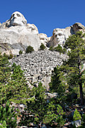 Tourists Attraction Photo Prints - Mount Rushmore II Print by Teresa Zieba