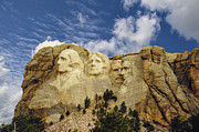 Stone Carvings Prints - Mount Rushmore Print by Jan Amiss Photography
