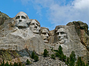 Teddy Roosevelt Digital Art Posters - Mount Rushmore National Memorial in the Black Hills Poster by Ruth Hager