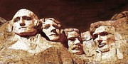 Abraham Lincoln Color Digital Art - Mount Rushmore National Monument USA by Peter Art Print Gallery  - Paintings Photos Posters