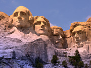 President Jefferson Posters - Mount Rushmore Poster by Olivier Le Queinec