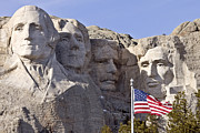 Mount Rushmore South Dakota Black Hills Print by Mark Duffy