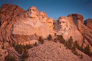 Mount Rushmore Prints - Mount Rushmore Sunrise Print by Steve Gadomski