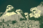 Abraham Lincoln Color Digital Art - Mount Rushmore U.S.A. by Peter Art Print Gallery  - Paintings Photos Posters