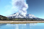 Geography Digital Art - Mount Saint Helens Simmers by Corey Ford