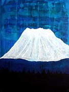 Contemplative Paintings - Mount Shasta original painting by Sol Luckman