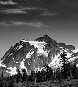 Cascade Mountains Prints - Mount Shuksan Black and White Cascade Mountains Washington Print by Brendan Reals